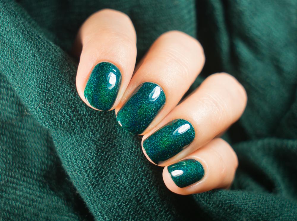 Emerald green nail polish for St. Patrick