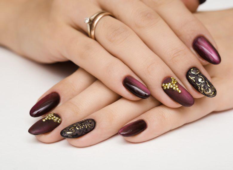 How to Wear Jewel-Tone Nail Polish and Gems