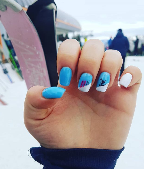 Vacation nails - the Alps
