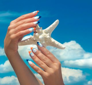 4 Ocean-Inspired Looks Featuring Shades of Blue Nail Polish