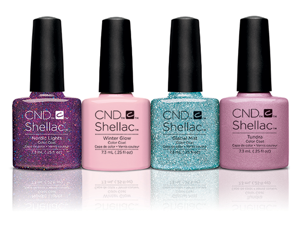 Cnd Shellac Brand 14 Day Nail Color Nordic Lights Winter Glow Glacial Mist
