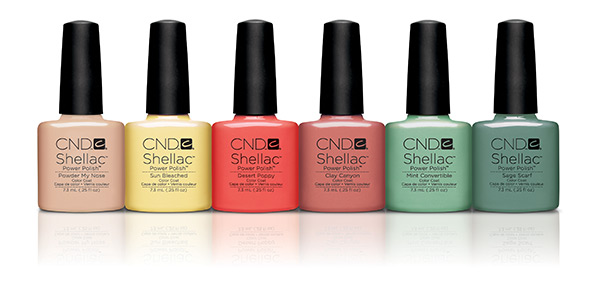 Cnd Shellac Spring Open Road Collection Cnd